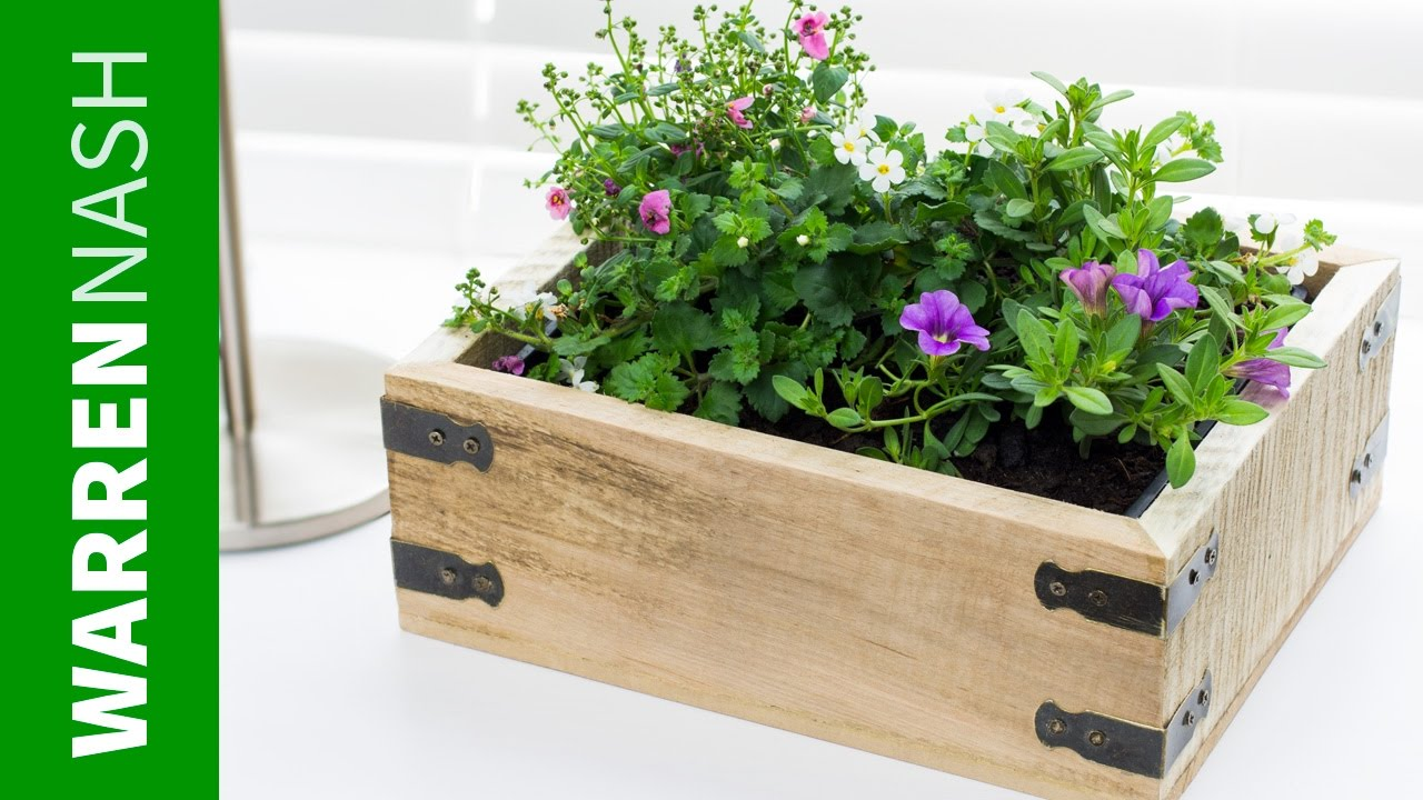Pallet Planter Box - Project Plans & Design - Easy DIY by Warren Nash