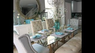Dining Room Decor with Mirrors