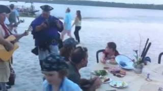 Pirates singing Under the Sea #comfortcrew Hanes trip