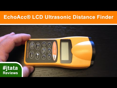 LCD Ultrasonic Distance Meter & Volume Range Finder from EchoAcc®