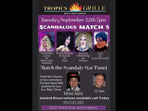 Tropics Grille - Dinner and a Show!