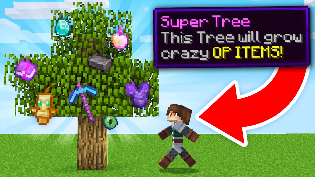 Download Minecraft, but OP Items Grow on Trees...