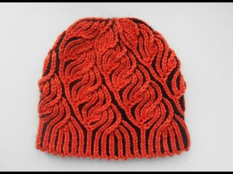 вязание шапки бриош
