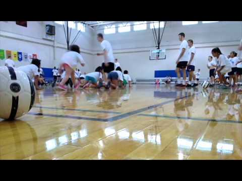 Wheaton Men's Soccer Runs Camp at Army Trail Elementary School