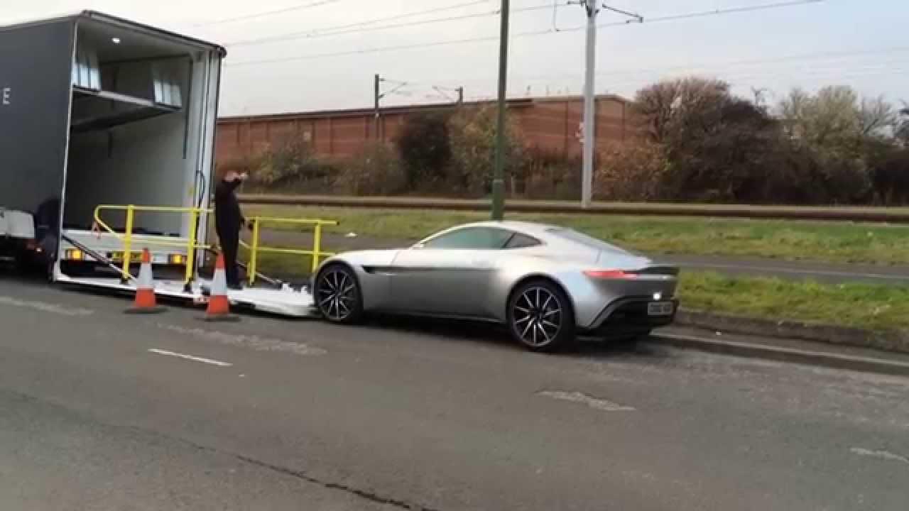 DB10 arriving at Aston Martin Edinburgh - YouTube on