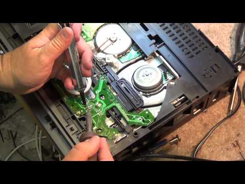 JVC HRD 870 VHS Jammed tape removal and mode switch cleaning procedure