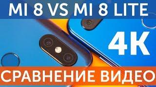 4K Тест камеры Xiaomi Mi 8 Lite vs Xiaomi Mi 8 сравнение (4K Test Compare)