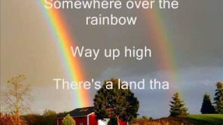 Judy Garland - Somewhere over the rainbow lyrics thumbnail