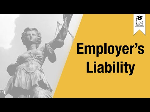Tort Law - Employer's Liability