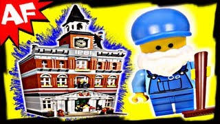 Town Hall 10224 Lego City Modular Building Set Animated Review