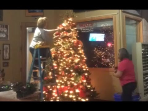 Townsquare Media Christmas Tree Decorated In Just Over 30 Seconds