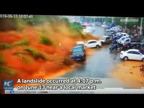 Floods Cause Giant Landslide Caught on Video