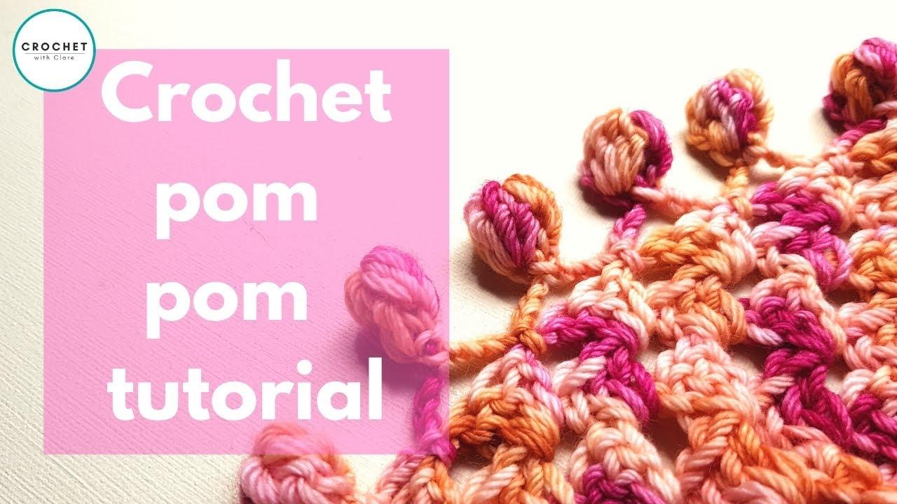 Crochet Pompom Edging Tutorial Youtube