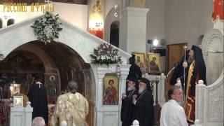 Богослужение в храме Святой Варвары у мощей Равноапостольной Елены