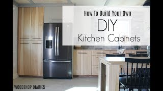 How to Build Your Own DIY Kitchen Cabinets--Using Only Plywood!