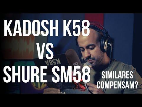 Microfones Baratos compensam? Shure SM58 / SM57 ou Kadosh K58 / K57. Consegue ouvir a diferença?
