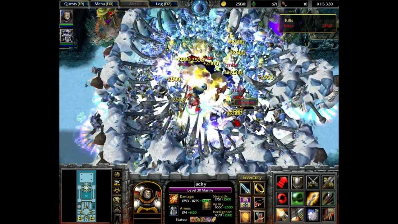 WarCraft 3: X Hero Siege Ex4 Complete Game Solo (3/3) HD ...