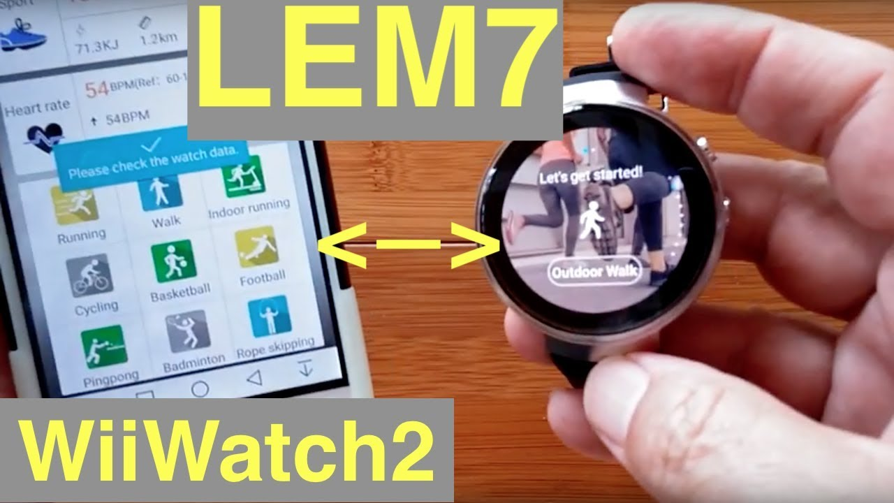 LEMFO LEM7 4G Cell 1GB 16GB Android 7 Smartwatch  Tethering to new  WiiWatch2 App e38fa458c0