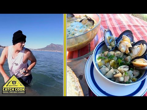 "White Mussel ""Jiving"" & Potjie recipe, [CATCH COOK] Cape Town, South Africa"