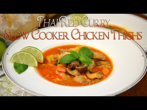 Thai Red Curry Slow Cooker Thighs | Crockpot Recipe | Easy Meal