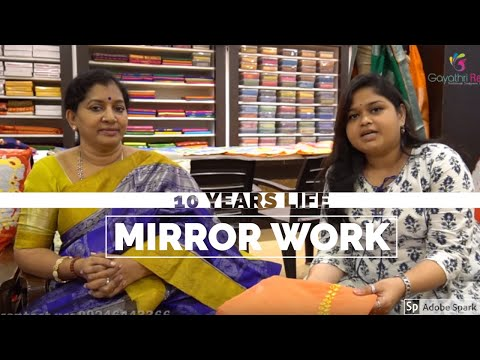 #mirrorwork-10-years-life!!!-real-mirror-work-on-kota-sarees||-#grds