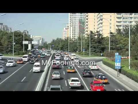 Beijing, China- Traffic on Chaoyangmen Daji