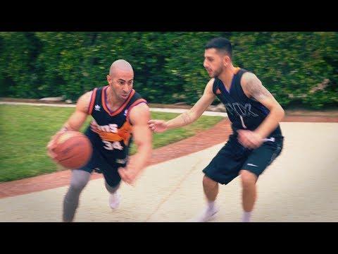 $500 Basketball Game For Charity. (insane ending)