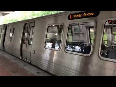WMATA Metrorail Kawasaki 7000 Seiries Railcar  Arriving @ White Flint Station