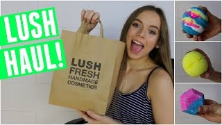 LUSH HAUL JULY 2016! treat yo self