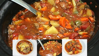 Slow Cooker Hamburger Stew: Easy Crock Pot Ground Beef Recipe
