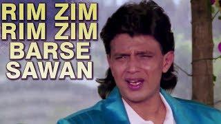 Rim Zim Rim Zim Barse Sawan - Romantic Song | Mithun Chakraborty | Poonam Dhillon | Jhoothi Shaan