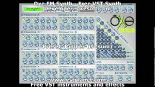 Oxe FM Synth - Free VST synth - vstplanet.com