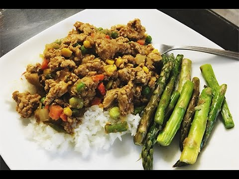 Ground Turkey Curry Healthy Asian Meal Prep Recipes Youtube