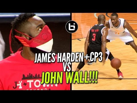 53993e8ea8a8 James Harden+CP3 VS John Wall! JH-Town Weekend Charity Game! - YouTube