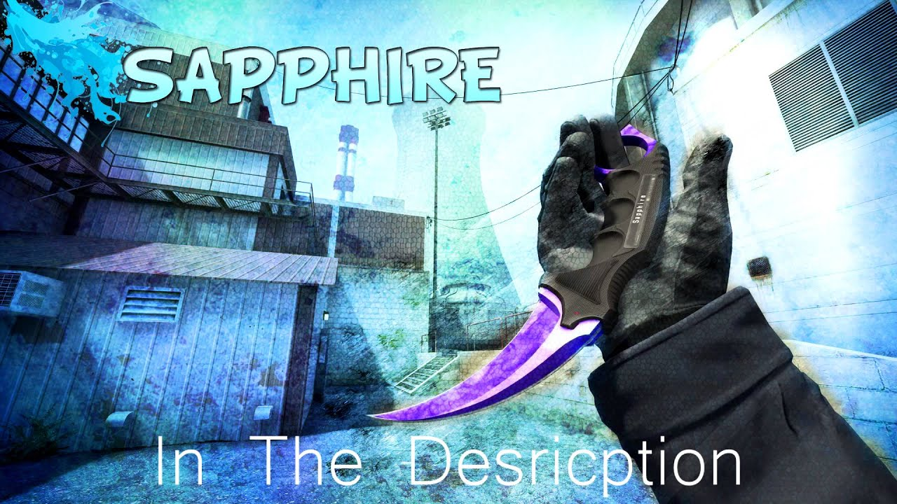 KARAMBIT SAPPHIRE HD WALLPAPER *FREE DOWNLOAD*