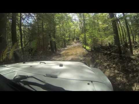 Bobcaygeon Ontario Consession trail with my 2012 Jeep Rubicon JK