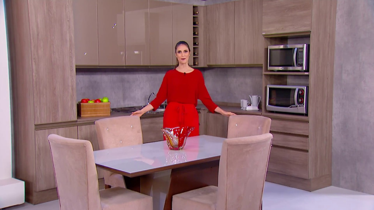 Armario De Cozinha Kappesberg Versatti Conjunto De Mesa E Cadeiras