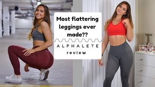 NEW GYM LEGGINGS - Review and try-on | ALPHALETE GYM WEAR