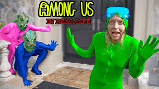 AMONG US in REAL LIFE with POND MONSTER TWINS (Imposter IQ 999)