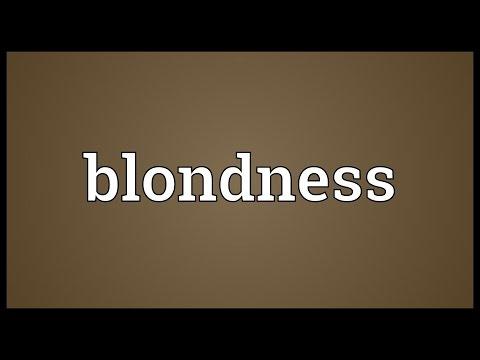Header of blondness
