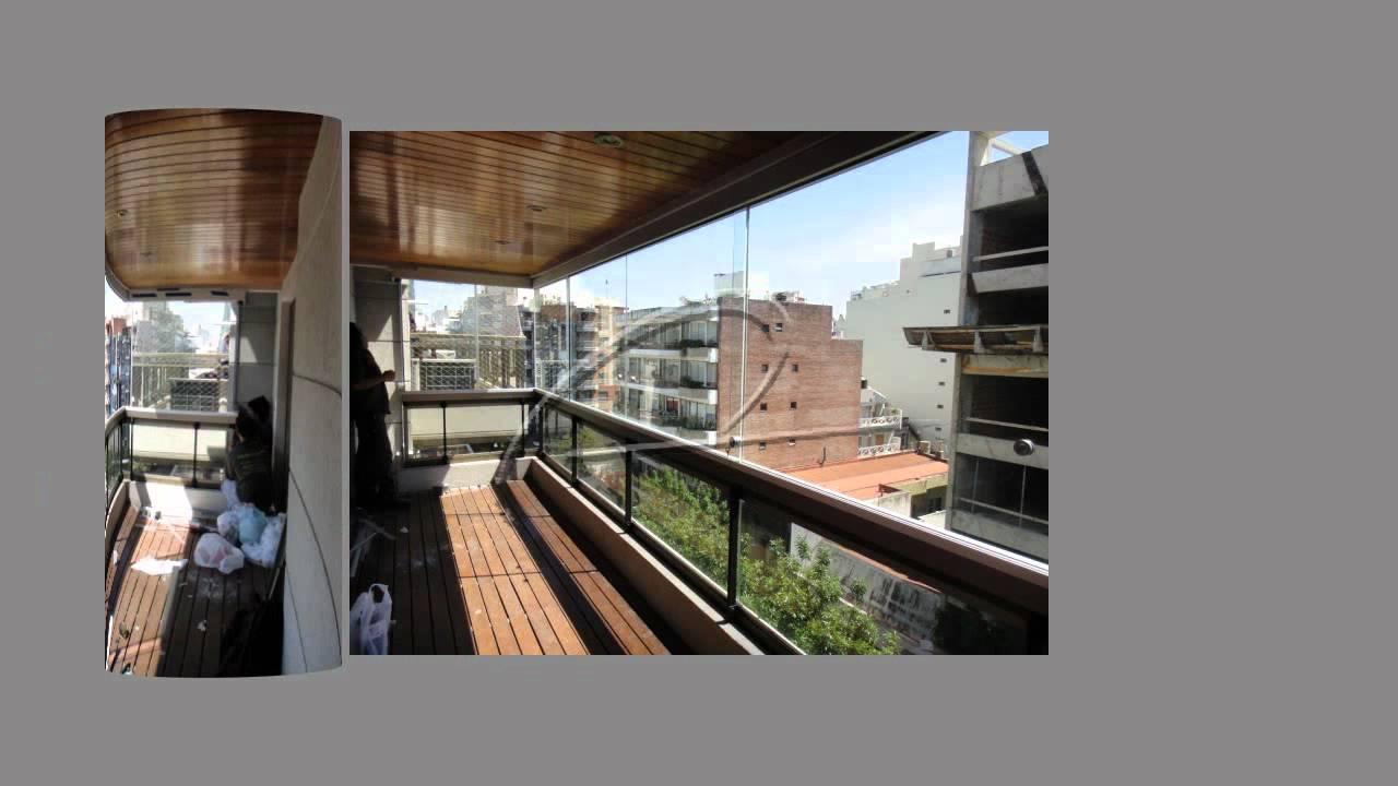 Cerramientos de balcones sin parantes eco alum s r l youtube - Cerramientos de balcones ...