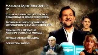 Anonymous: La MAFIA política Española. El juego se acaba. WorldRevolution 12M 2012