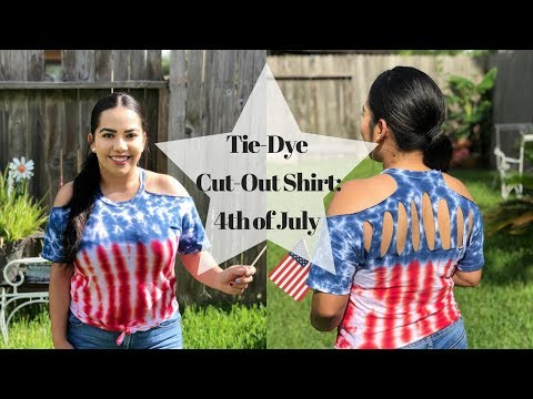 Tie-Dye Cut-Out Shirt: Fourth Of July Edition | CruzieTV