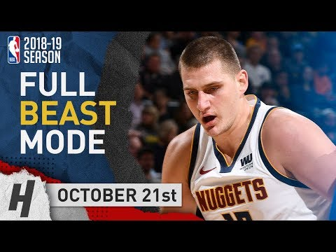 Nikola Jokic Full Highlights Nuggets vs Warriors 2018.10.21 - 23 Pts, 11 Reb, 6 Ast