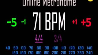 Metronomo Online - Online Metronome - 71 BPM 4/4