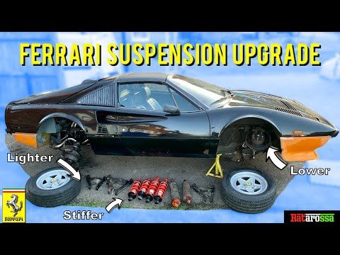 DIY Driveway Ferrari Suspension Full Replacement –  Upgrading 40 Year Old System & Saving Thousands