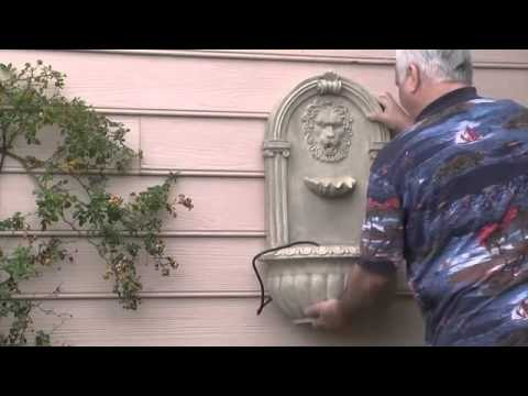 GIFTE-MART Lions Head Roman WALL mount hanging Garden water Fountain indoor Outdoor w/ pump