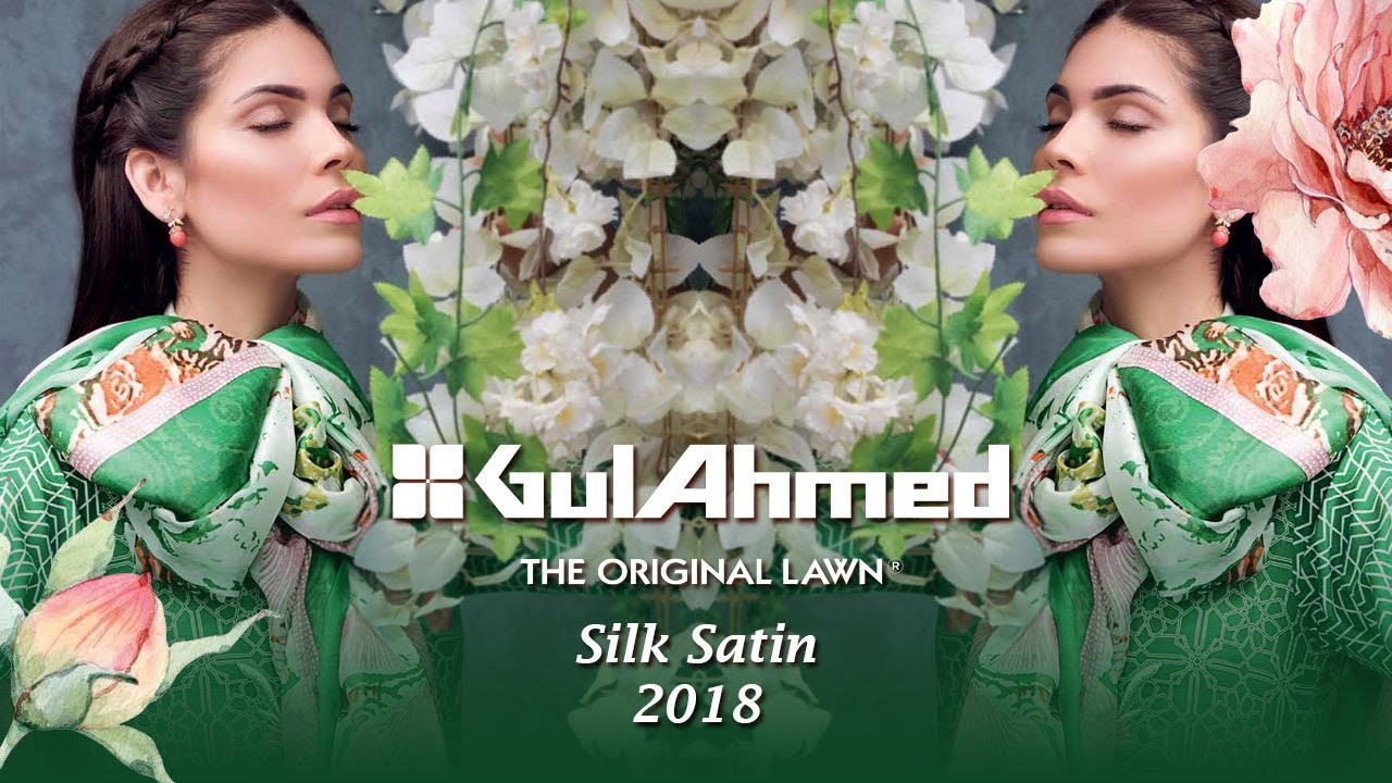 a4dc437b30 Gul Ahmed Summer Collection 2018 - Silk Satin Pakistani Clothes Brand