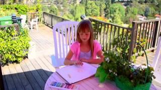 "Short fantasy film ""Magic Sketchbook"" Sara finds a magic sketchbook..."