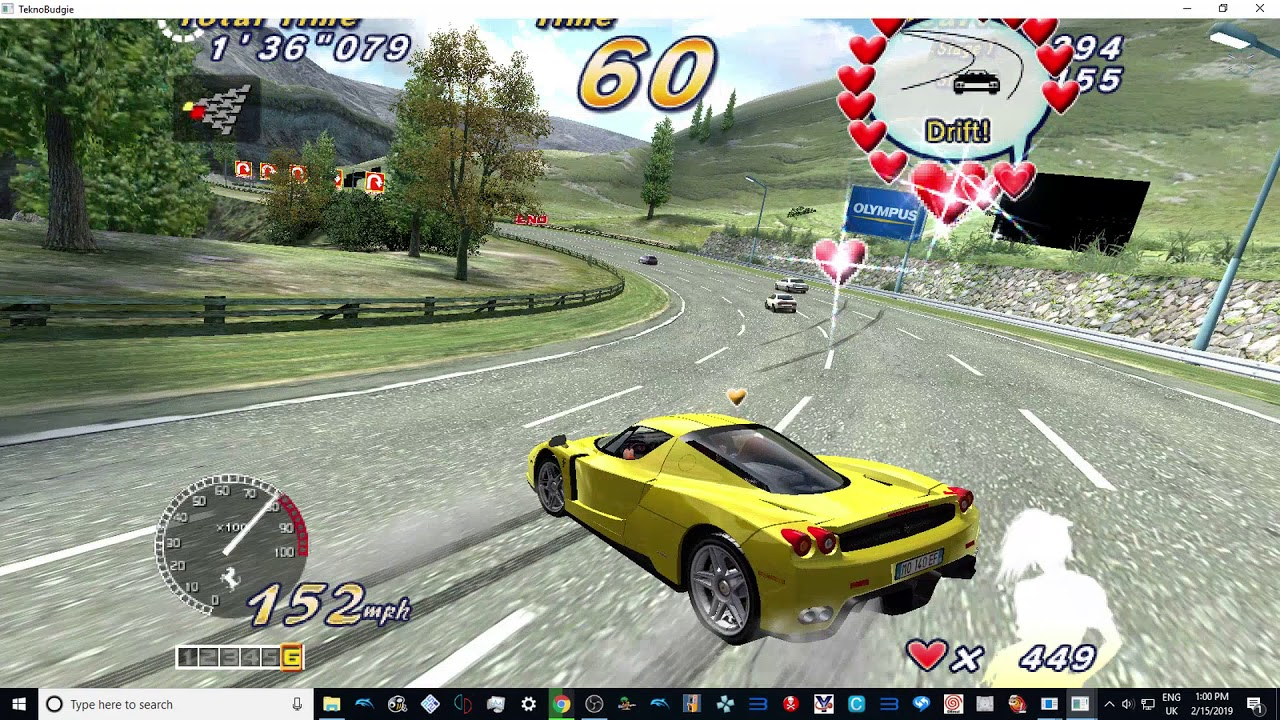 TEKNOPARROT 1 94 OUTRUN 2 SP DX - HEART ATTACK MODE - OUTRUN 2 MAP 1080p  60fps 2019